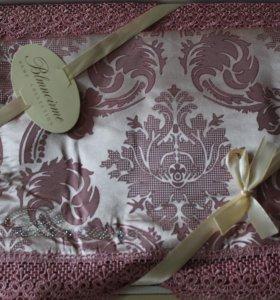 Розовое Постельное белье Жаккард Новое