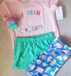 Новая пижама Carters для девочки