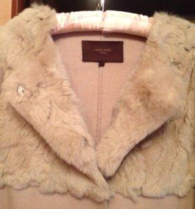 Пальто шерсть с кроликом