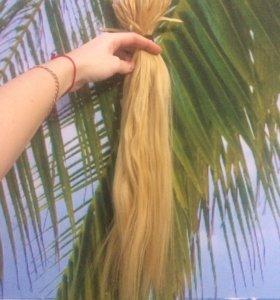 Натуральные волосы для наращивания блонд