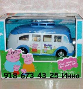 Автобус Свинка Пэппа с семьей