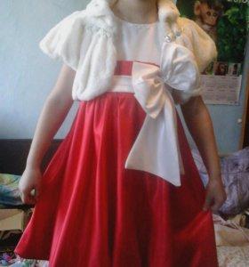 Нарядное платье 5-8 лет.