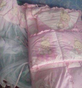Балдахин и бортики на кроватку