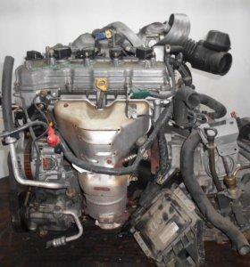 Двигатель с КПП, Nissan QG15-DE -  AT RE4F03b
