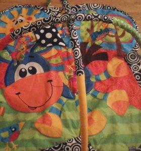 Развивающий  коврик с 4 игрушками