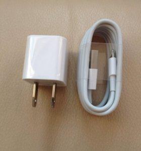 Зарядка с кабелем на iPhone