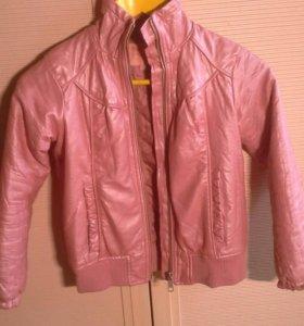 Куртка кожанная(не натуральная)перламутровая Scool