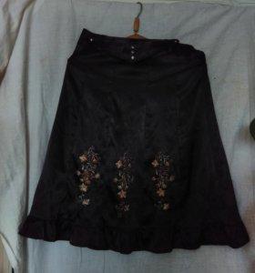 Атласная юбка