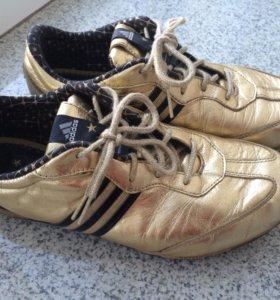 Кроссовки Adidas, золотые, 37