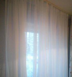 Тюль готовый новый белый шторы