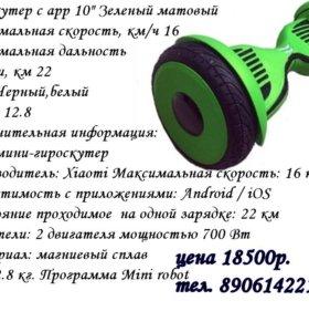 Гироскутер с арр зеленый матовый