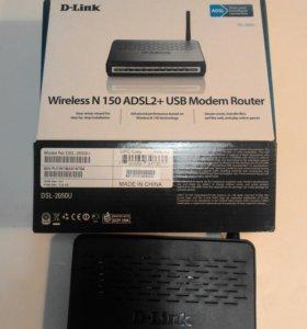 Wi-Fi роутер dlink dsl2650u