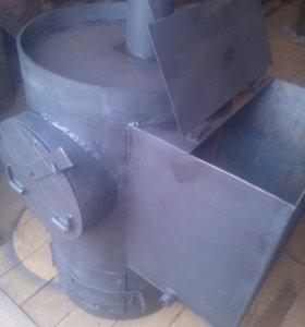 Печь с открытой и закрытой каменкой