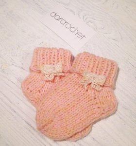 Детские носочки из полушерсти
