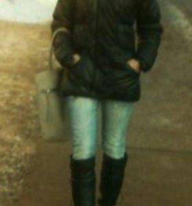 Зимний теплый пальто-пуховик adidas