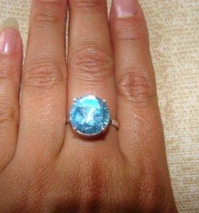 Кольцо с гол.топазом - 18,5р.Серебро 925