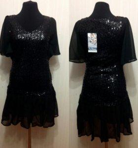 Платье с пайетками новое