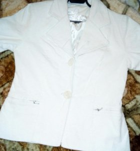 Пиджак вельвет молочный р.46