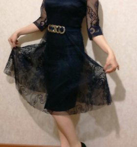 Платье гипюр 42-44р.