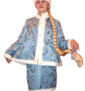 Костюм Снегурочки из жаккардовой ткани