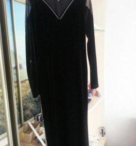 Вечернее платье в пол бархат размер 44-46
