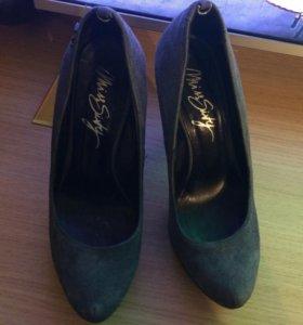 Туфли  нат. замша
