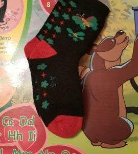 Новые махровые носки 16-17 см.по стельке.
