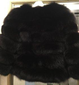 Чёрная шубка 60см