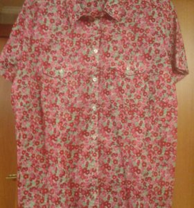 Рубашка цветастая размер 52-54