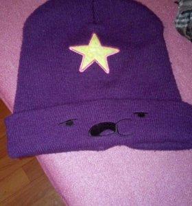 Теплая шапочка с пупыркой