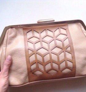 Новая кожаная сумка/клатч Acasta