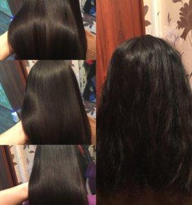 Кератиновое выпрямление волос от 3000