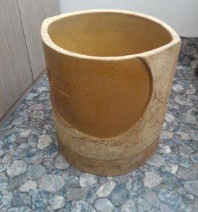 Вазон керамический большой. 34x35 см. Горшок