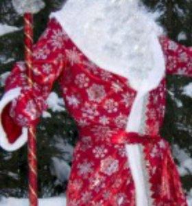 Прокат аренда костюма деда мороза и снегурочки