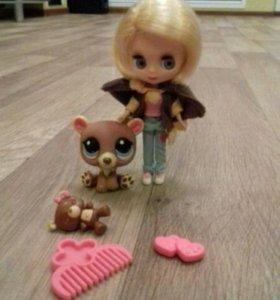Лпс кукла Блайз с мишкой
