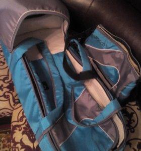 Сумка - переноска для малышей+ сумка для одежды,