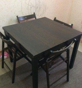 Стол и стулья ИКЕА