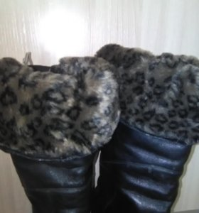Сапоги зима,батфорты,размер 38;, ц . 999 р.