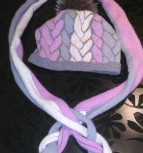 Комплект шапка,шарф