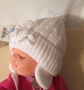 шапочка на новорождённую новая