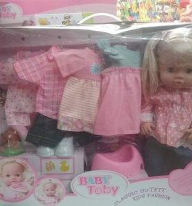 Пупс-кукла Baby Toby(Baby Born) с одеждой и аксесу
