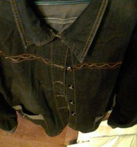 Куртка джинсовая 54-56размер