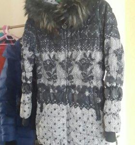 Пальто-пуховик для девочки (44 разм., 10-12 лет)