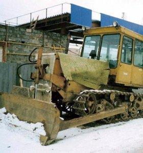 Чистка снега бульдозером