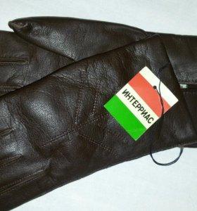 Новые Кож.коричневые перчатки