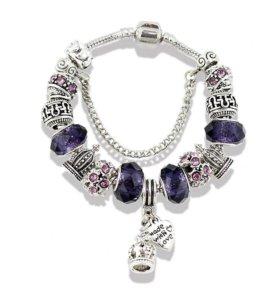 Браслет Pandora (фиолетовый и другие). Новый