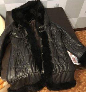 Кожаное пальто зима