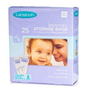 Пакеты для хранения и замораж. груд.молока Lansino