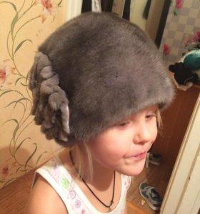 Продам норковую шапку, без размерная