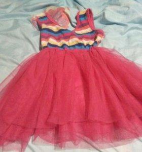 Платье с пышной юбкой рост 95см